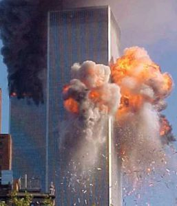 Plane hitting Twin towers attacked on 9/11