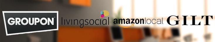 groupon living social amazon local gilt logos