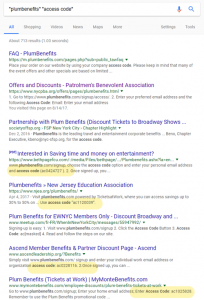Plum Benefits search results