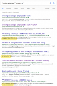 Working Advantage Search Results