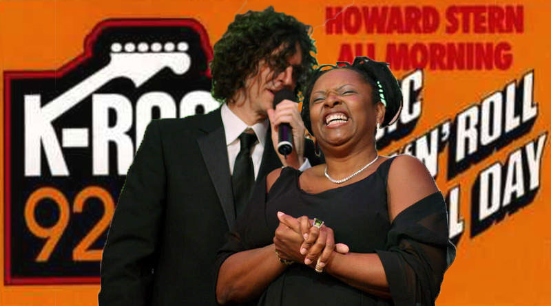 Howard stern and robin quivers at Krock