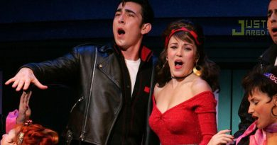 grease broadway show max crumm laura osnes