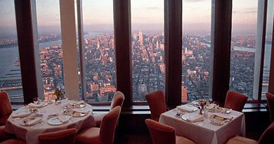 Windows on the World Restaurant on the 107th floor of the WTC