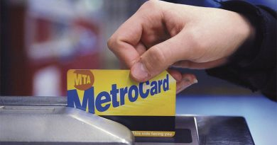 metrocard being swiped at turnstile