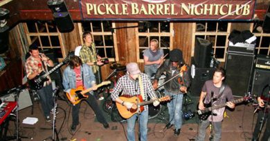 band playing on stage at pickle barrel nightclub