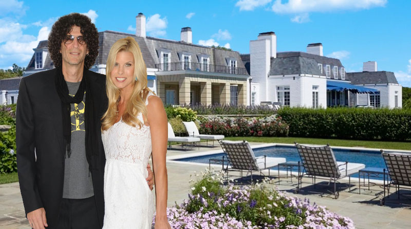 howard stern and beth ostrosky at hamptons house
