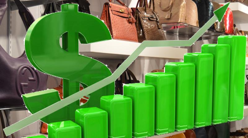 Fake handbag sales chart