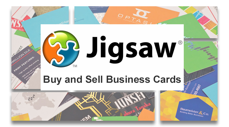 Buy and sell business cards on Jigsaw and data.com Connect