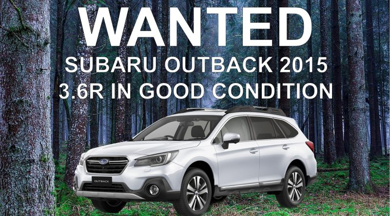 Subaru outback wanted