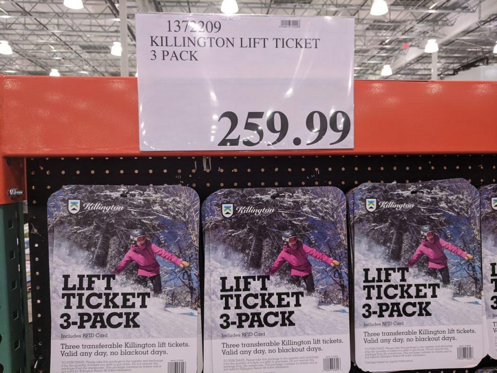 Killington lift ticket ticket discounts at Costco for 2020 ski season